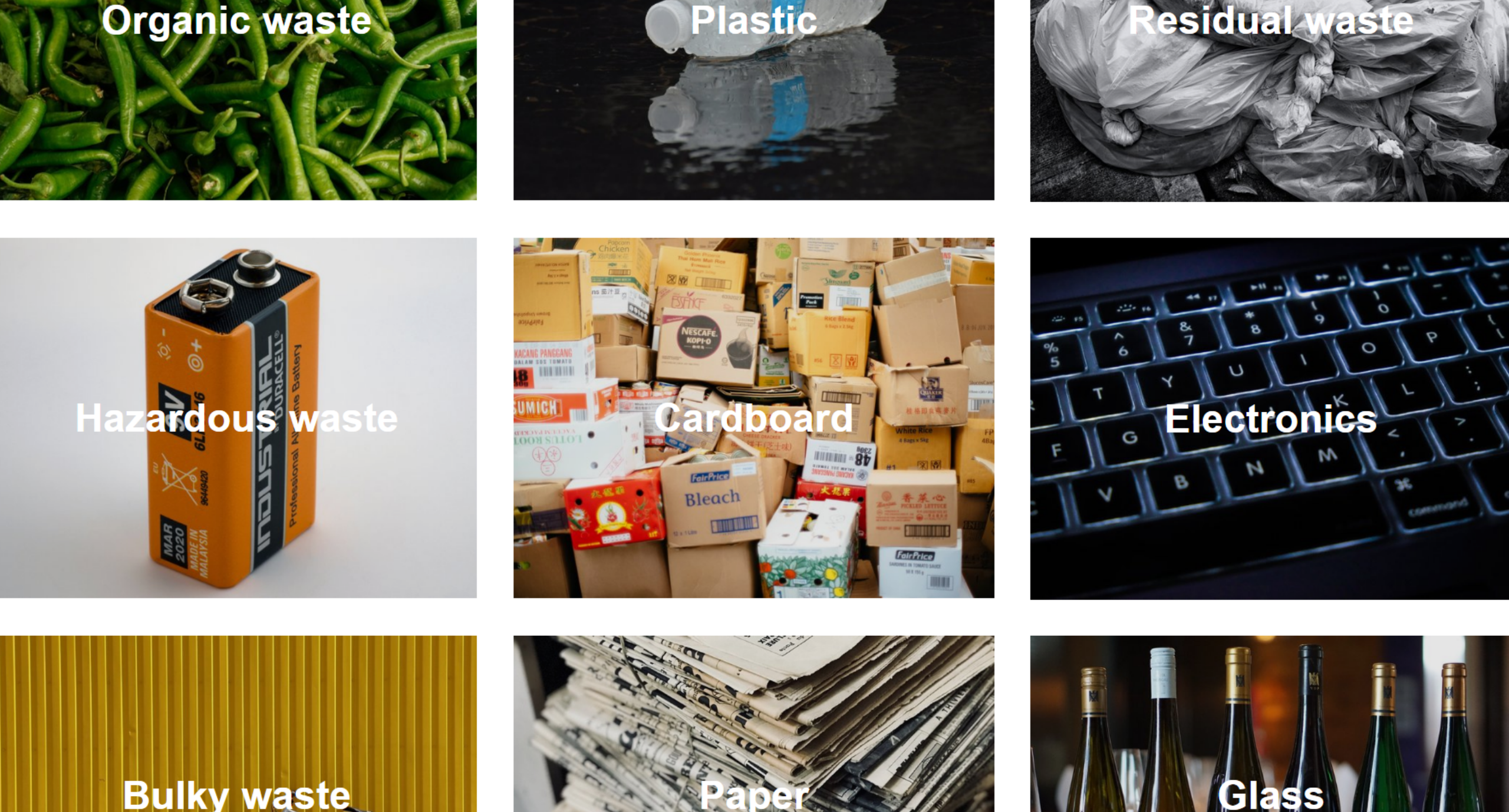 Recycle in Denmark affaldssortering